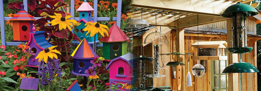 bird houses and bird feeders