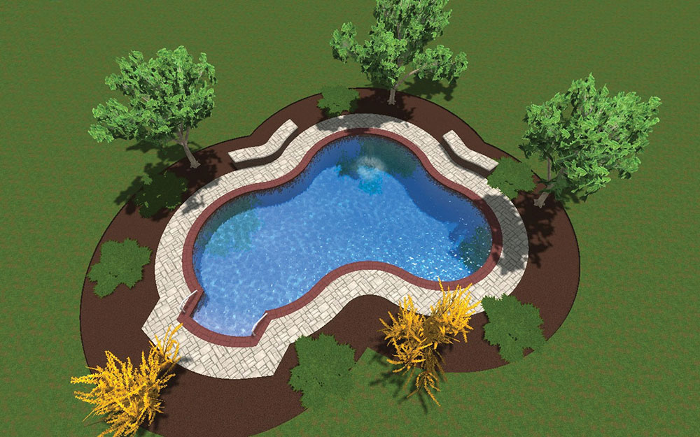 Inground Pool Shapes: Aspen