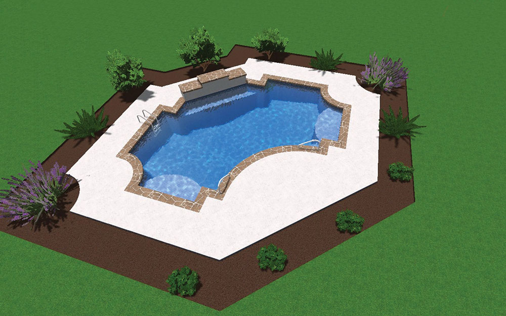Inground Pool Shapes: Gothic - Customized