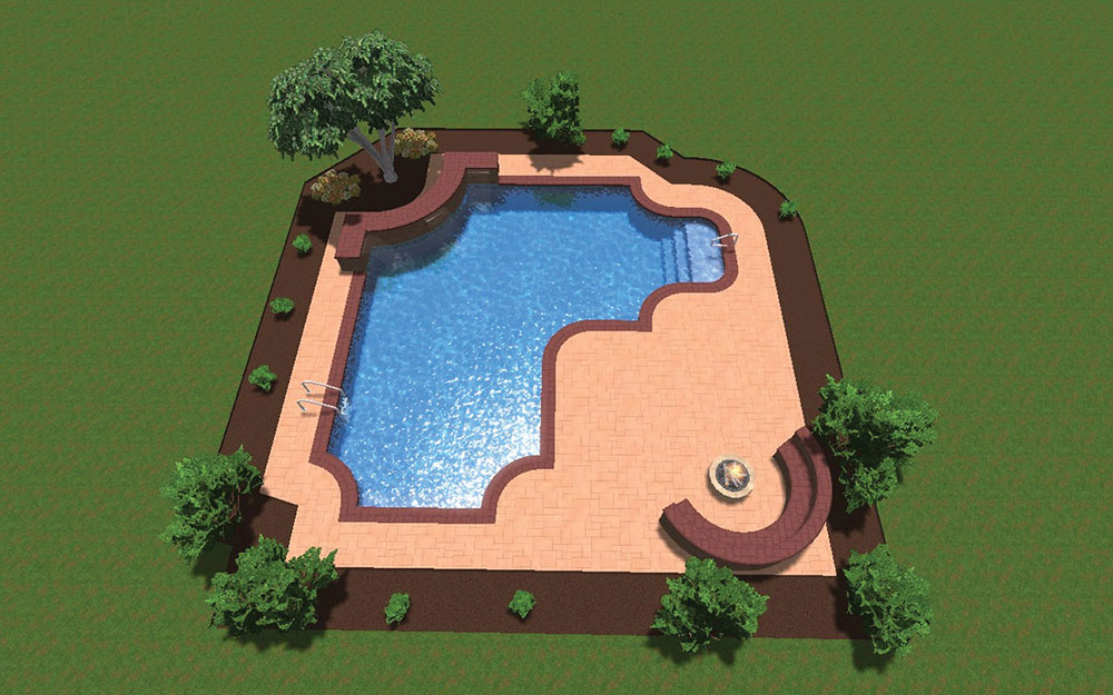 Inground Pool Shapes: Custom Gothic True L