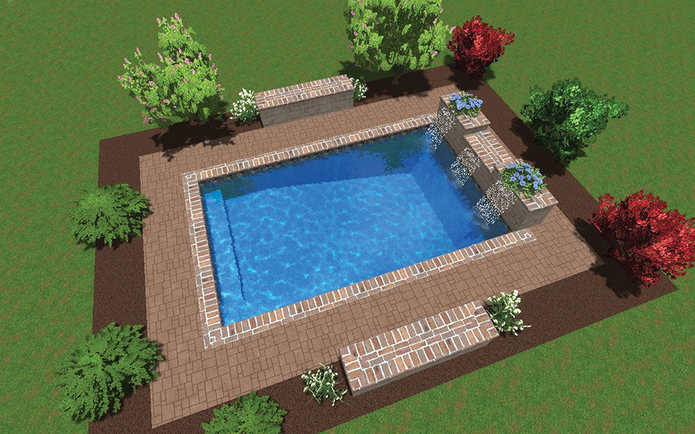 Inground Pool Shapes: Custom Rectangle