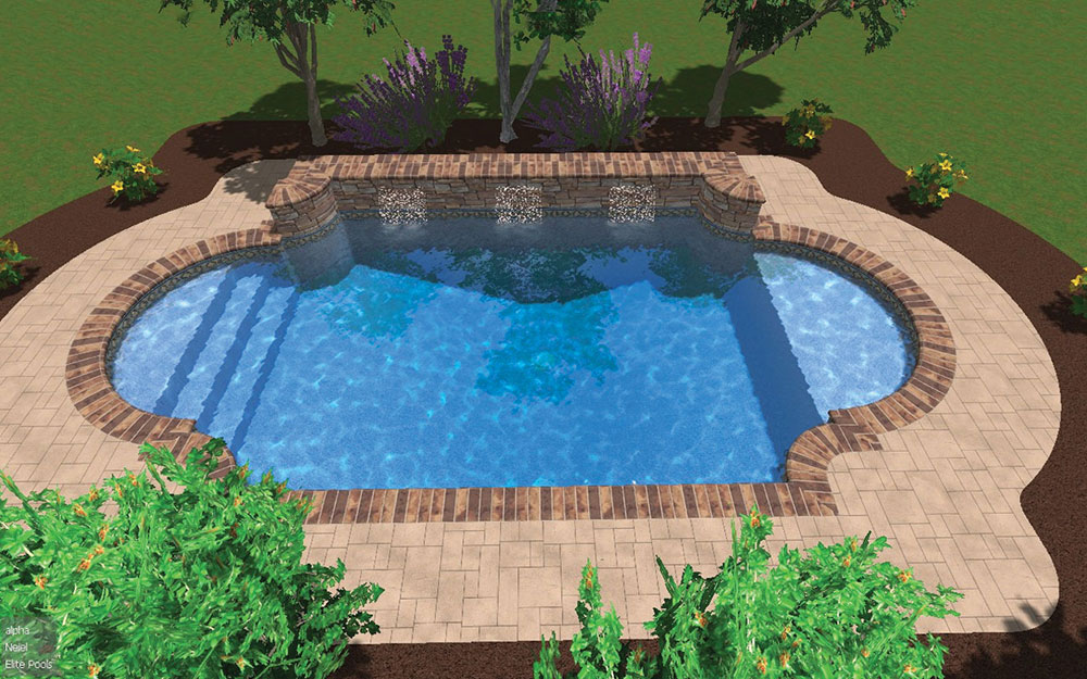 Inground Pool Shapes: Custom Double Roman