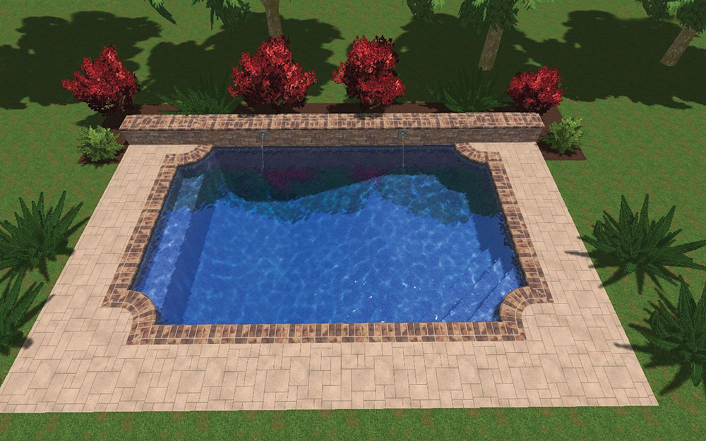 Inground Pool Shapes: Custom Gothic Roman
