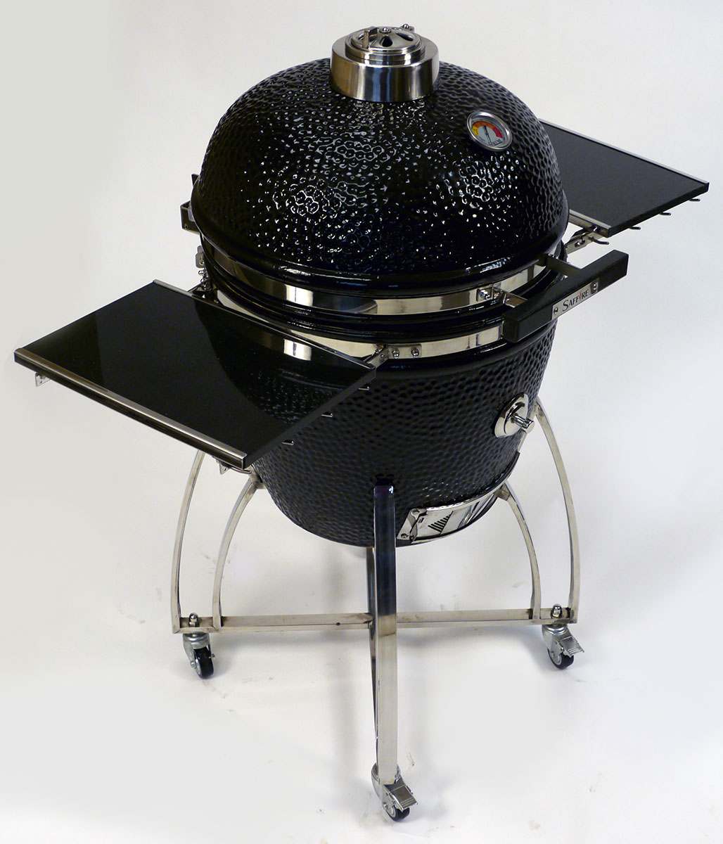 2014 Black Saffire Grill & Smoker with Black Granite Shelves & Handle