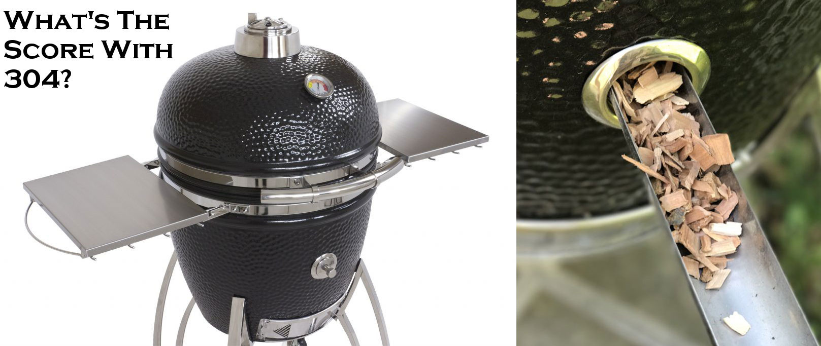 Saffire Kamado Grills with Smokin' Chip Feeder